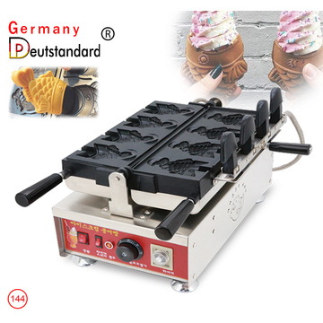 Electric open mouth ice cream taiyaki machine