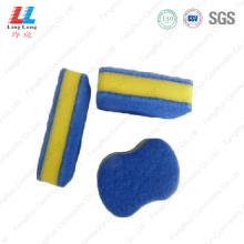 Mixture color scouring sponge cleaning pad
