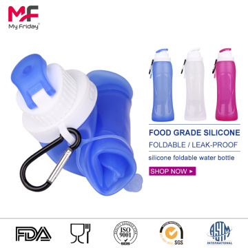 Amazon hot selling collapsible silicone water bottles