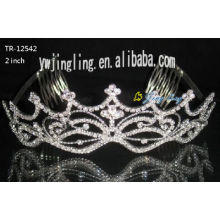 Wedding Tiara Crown With Combs Both Sides