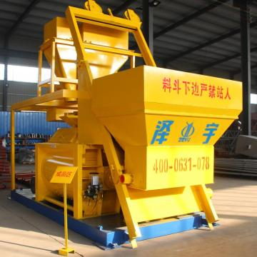 Stationary 1500l double shaft concrete mixer