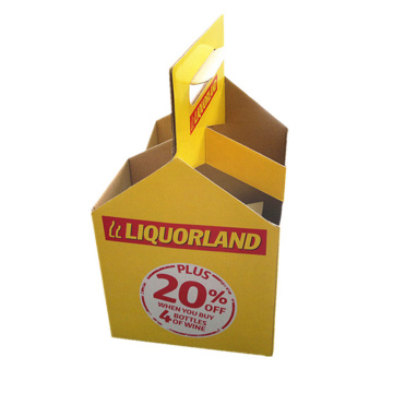Holiday sales for Foldable Single Corrugated Packaging Box Wholesale winebottle corrugated paper box supply to France Wholesale