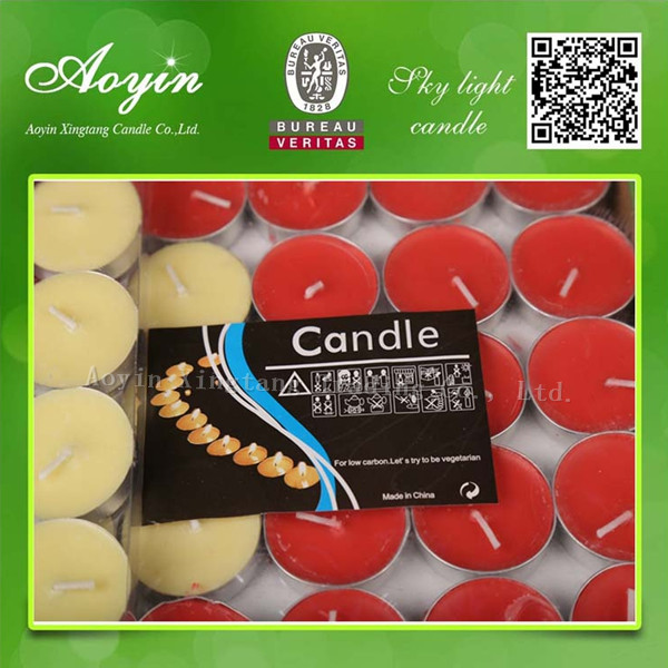 very cheap multi-colored tea light candles in bulk
