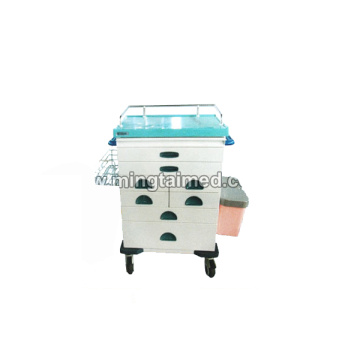 Hospital anesthesia cart with several drawer