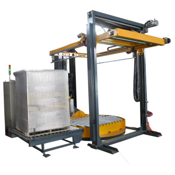 Fully-auto turntable pallet wrapping machine