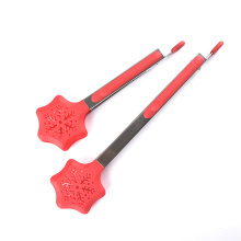 Red Snowflake shape Christmas Nylon kitchen tong