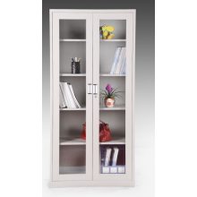 Swing glass two door file cabinet storage cupboard