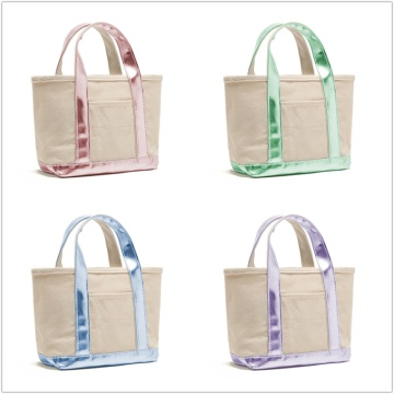 Plain Cotton Canvas Tote Bag Handbags for Women
