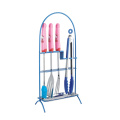 pink bbq tool set with tray and rack