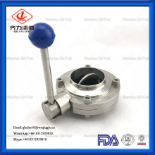 Sanitary Stainless Steel Manual Welded Butterfly Valve