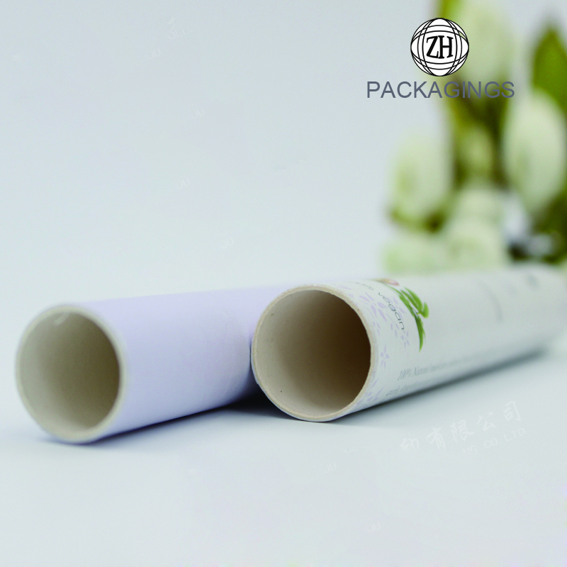 Cylinder box packaging with custom printing logo