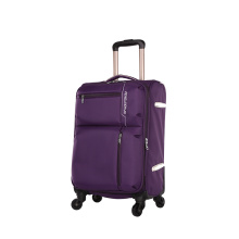 4pcs polyester trolley luggage set with wheels