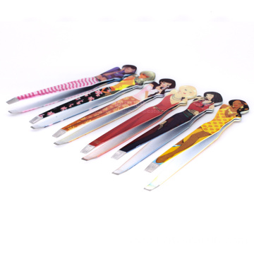 Cartoon mini portable eyebrow tweezers