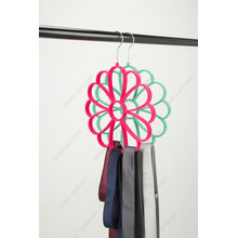 Rose Flower Shape Tie Scarf Belt Velvet Hanger
