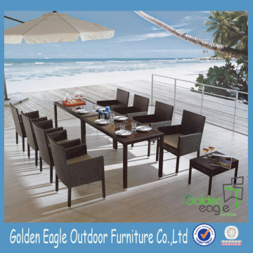 Comfortable table and chairs with fabric pvc rope