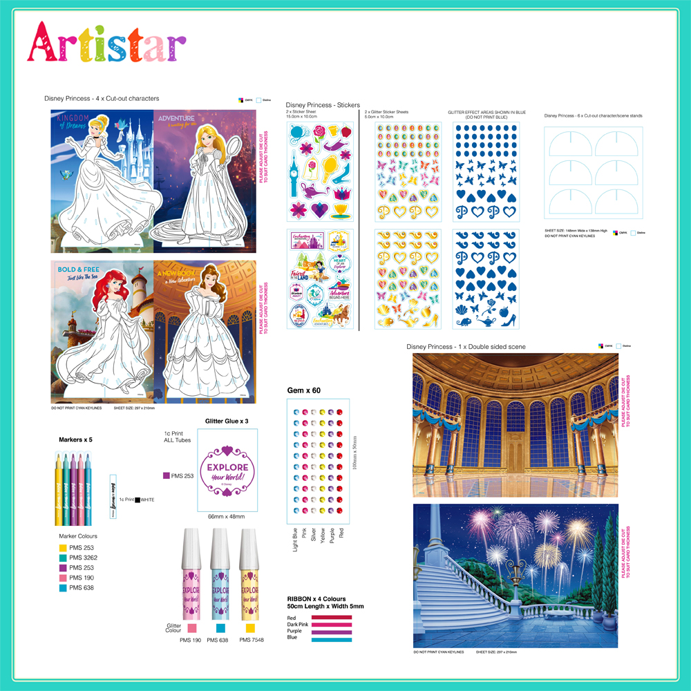 Disney Princess Attractive Art Set 2