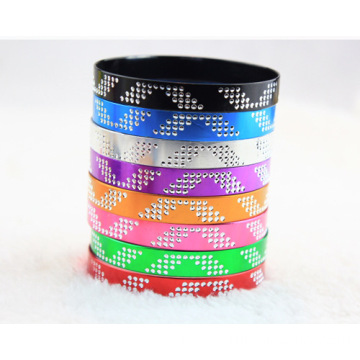China for Aluminum Bangle Bracelet Wing Patterns Aluminium Alloy Bangles Wide Colorful Bracelet supply to Chad Factory