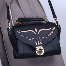 China New Product for Crossbody Bag Black leather Hollow leather lady shoulder bag export to Belize Manufacturer