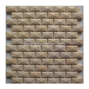 3D Carrara Marble Mosaic don Wall