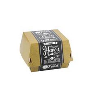 300gsm fast food packaging kraft natural hamburger box