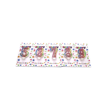 Personalized  Color Happy Birthday Number  Candle
