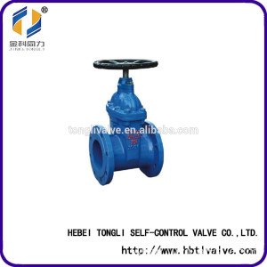 the price of ductile iron rising stem flange sluice valve rubber seated DN150