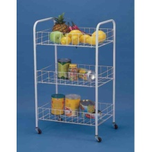 High Quality for Plastic Compound Cart Multifunctional 3-tier Storage Cart export to Netherlands Manufacturer