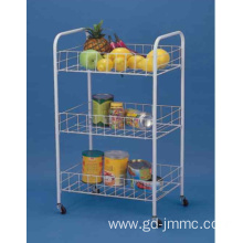 Customized for Plastic Compound Cart 3 Tier Rolling Storage Cart export to Netherlands Manufacturer