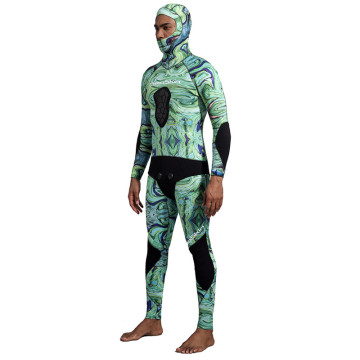 Seaskin Mens 4mm Neoprene Hunting Hooded Wetsuits