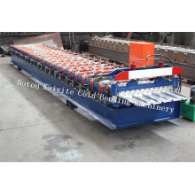 Personlized Products for Trapezoidal Sheet Roll Forming Machine PPGI Automatic IBR Roof Tile Roll Forming Machine export to San Marino Factories