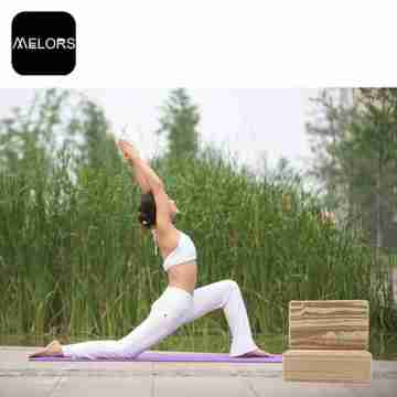 Melors Large Yoga Blocks Foam Wooden Block