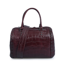 Boston Bag Crocodile Leather Casual Stylish Tote Bags