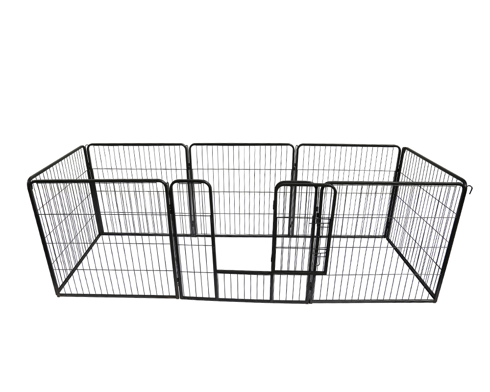 Black Square Tube Pet Playpen