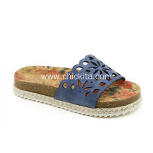 Casual Cork Sock Hollow Slippers Sandals for Girls