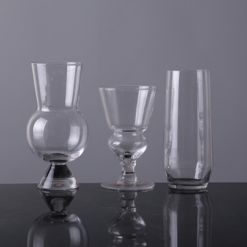 Unique Design Clear Glassware For Wine