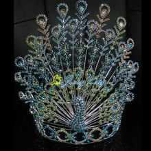 Large Adjustable Band Pageant Crown special peacock crown