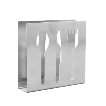 Cutlery Shaped Home Restaurant Stainless Steel Tissue Holder