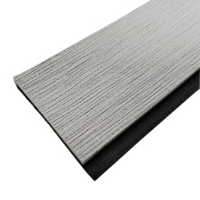 Light Grey & Black Marine EVA Faux Teak Strip