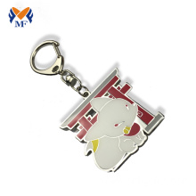 Metal enamel keychain with photo in chinese