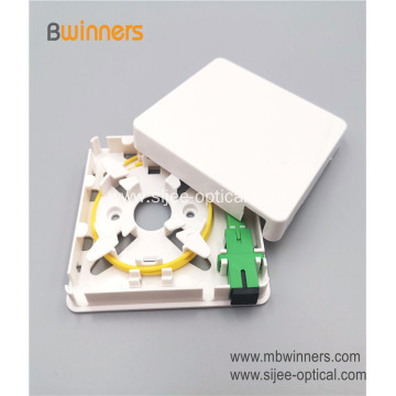 Wall Socket 1 Port SC Mini Fiber Termination Box