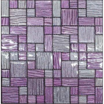 Elegance Purple Color Crystal Glass Mosaic