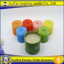 Home decoration scented colorful pillar candle