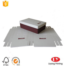cheap foldable shoes paper box with E-flute