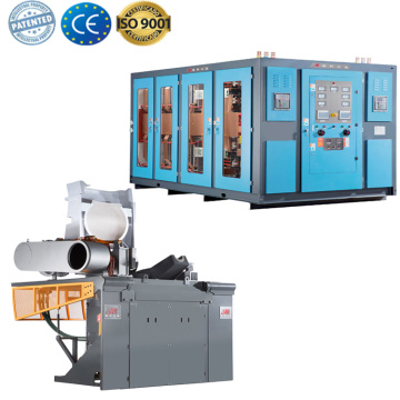 electric medium frequency induction types of melting furnace