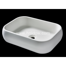 Rounded Rectangle Pure Acrylic washbasin for bathroom