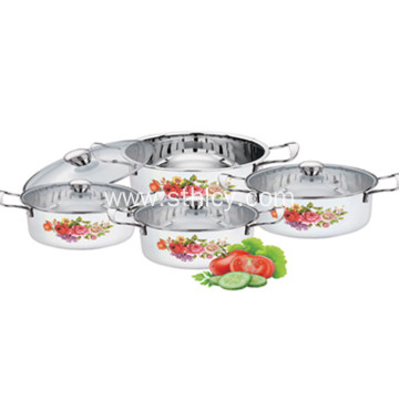 Stainless Steel Cookware Set with Glass lid