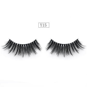 Wholesale 3D Faux Mink Lashes Invisible Band Silk Eyelashes