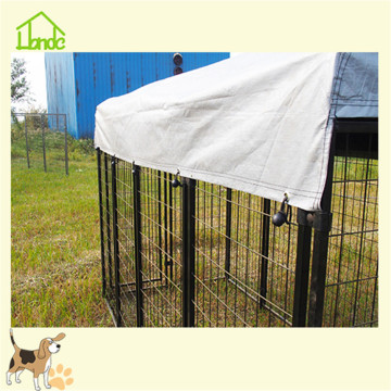 Durable black backyard wire welded dog kennel