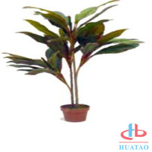 Plastic potted artificial grass plant for decor