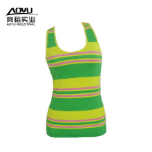 Customized for Women Tank Top Stripe Workout Fitness Women Yoga Sport Tank Tops export to United States Manufacturer